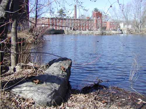 Middlesex Canal Museum from anchor stone
